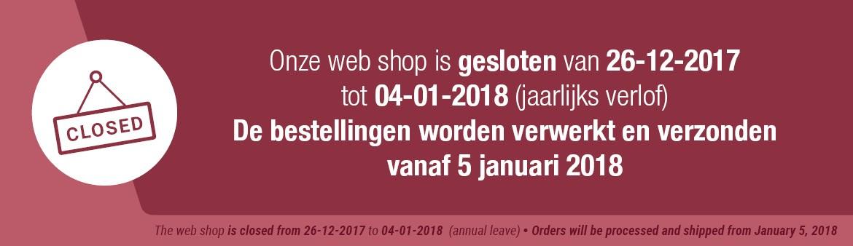 Webshop gesloten